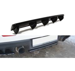 Сплиттер задний Mitsubishi Lancer Evo X (со стойками)