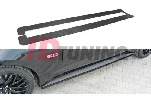 Накладки на пороги гоночные Ford Mustang MK6 GT