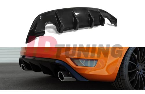 Накладка на задний бампер Ford Focus II ST Рестайл