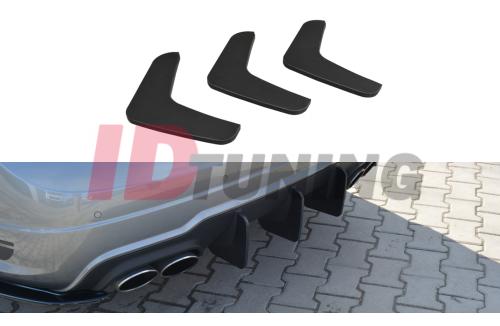 Накладка на бампер задний Mercedes C W204 AMG-Line Дорестайл вар.1