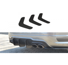 Накладка на бампер задний Mercedes C W204 AMG-Line Дорестайл вар.2