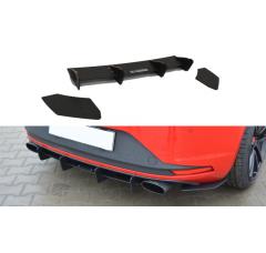 Накладка на бампер задний & Комплект сплиттеров задних Seat Leon III Cupra