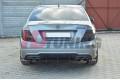 Накладка на бампер задний & Комплект сплиттеров задних Mercedes C W204 AMG-Line Дорестайл
