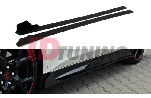 Накладки на пороги гоночные Honda Civic IX Type R