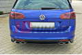 Сплиттер задний Volkswagen Golf MK7 R Универсал (без стоек)