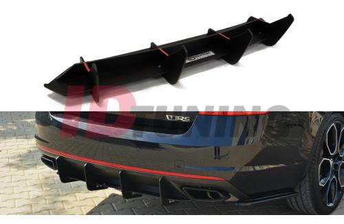 Накладка на бампер задний Skoda Octavia III RS