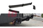Накладка на бампер задний & Комплект сплиттеров задних BMW 1 F20 M-Power Дорестайл