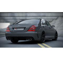 Бампер задний (W205 look) + накладка на бампер Mercedes S W221