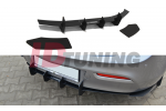 Накладка на бампер задний & Комплект сплиттеров задних Mazda 3 MK2 SPORT Дорестайл