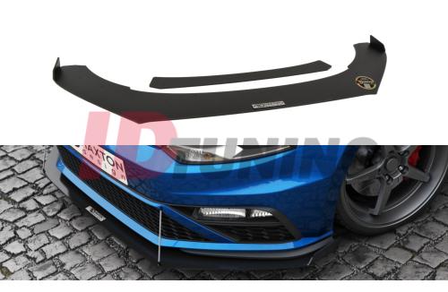 Сплиттер передний гоночный Volkswagen Polo MK5 GTI Рестайл (с крыльями)