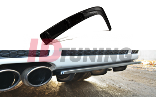 Сплиттер задний Audi RS4 B5 (со стойками)
