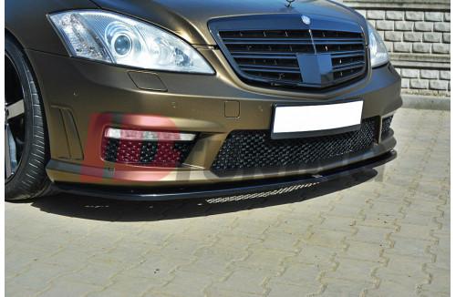 Сплиттер передний Mercedes S-класс W221 AMG