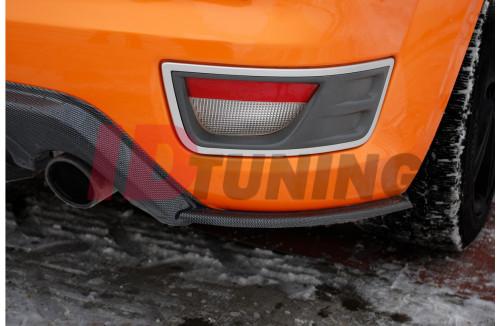 Комплект сплиттеров задних Ford Focus MK2 ST Дорестайл (совместим с накладкой на задний бампер)