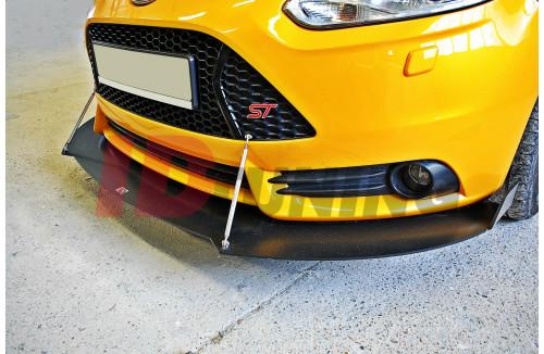 Сплиттер передний гоночный 2 Ford Focus ST MK3 Дорестайл