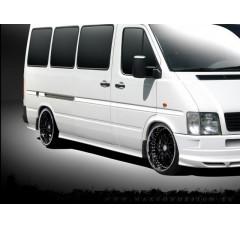 Накладки на пороги Volkswagen LT 1996-2006 (4 элемента, разные размеры, совместимы с версией со сдвоенными колесами)