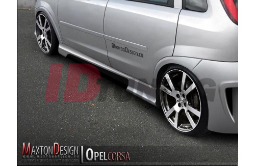 Накладки на пороги Opel Corsa C вар.2