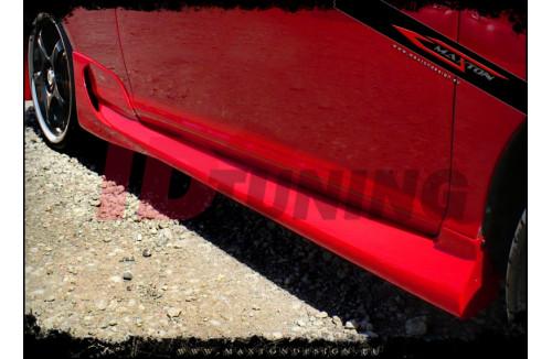 Накладки на пороги Honda Civic VII Хэтчбек(3дв)