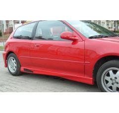Накладки на пороги Honda Civic V Хэтчбек вар.1