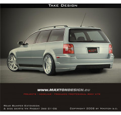 Накладка на бампер задний Volkswagen Passat 3BG 2001-2006 TAKE