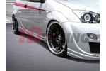 Накладки на пороги Ford Focus I Хэтчбек(3дв) RACER