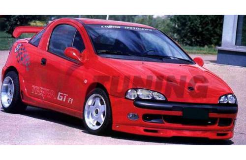 Спойлер на передний бампер Opel Tigra