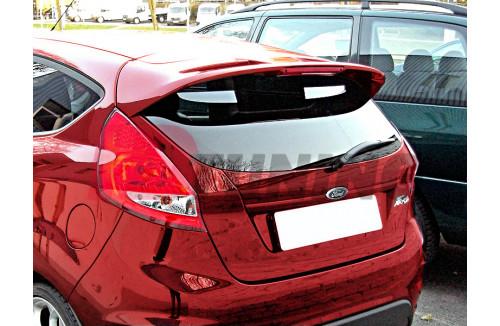 Спойлер на крышу Ford Fiesta MK7 Рестайл (ST/ZETEC S look) в грунте