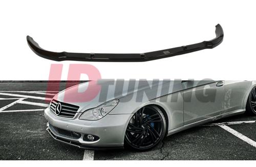 Сплиттер передний Mercedes CLS C219 (на стандартный бампер)
