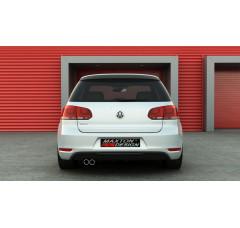 Накладка на задний бампер Volkswagen Golf VI GTI (одиночная выхлопная труба)