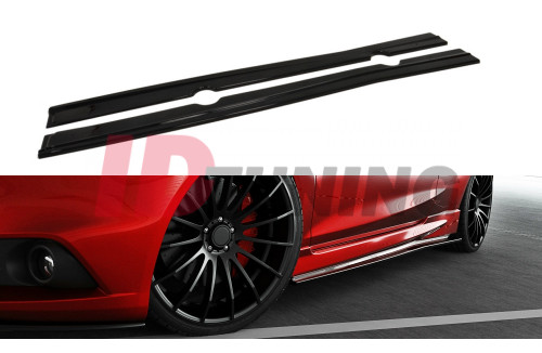 Накладки на пороги Ford Fiesta MK7 Рестайл ST/Zetec S