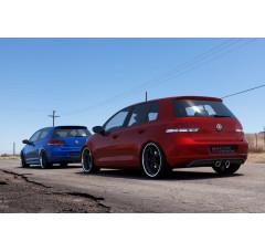 Накладка на задний бампер Volkswagen Golf VI (Golf V R32 look)