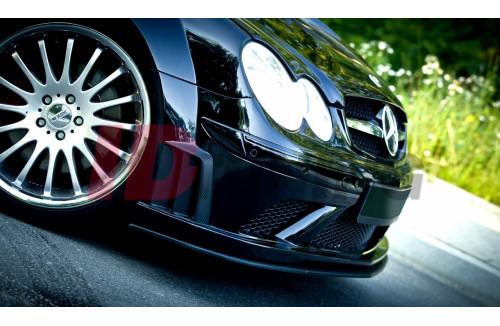 Сплиттер передний Mercedes CLK W209 BLACK (SL BLACK SERIES look) вар.2