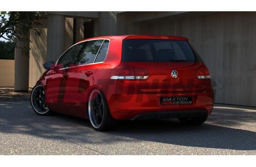 Накладка на задний бампер Volkswagen Golf VI (без отверстий под выхлопную трубу)