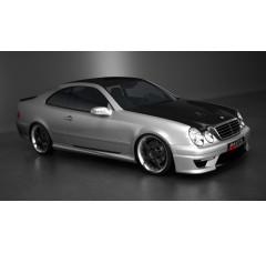 Накладки на пороги Mercedes CLK W208