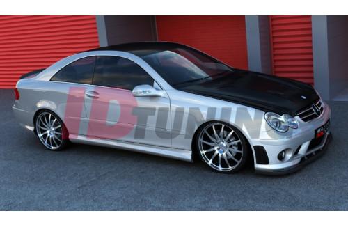 Накладки на пороги Mercedes CLK W209