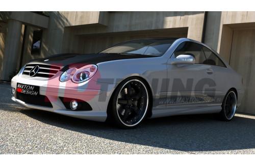 Накладки на пороги Mercedes CLK W209 (AMG look)