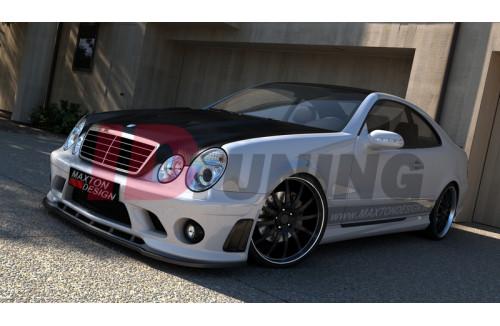 Сплиттер передний Mercedes CLK W208 (на бампер ME-CLK-208-AMG204-F1)