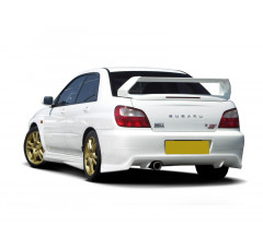 Накладка на бампер задний Subaru Impreza MK2 WRX Седан 2001-2002