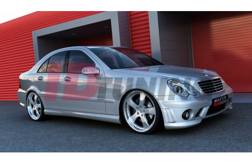 Накладки на пороги Mercedes C W203