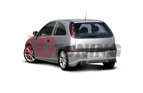 Накладка на бампер задний Opel Corsa C Дорестайл