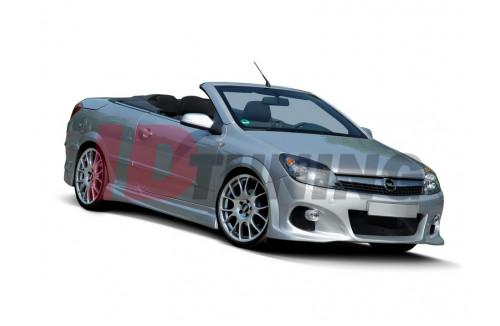 Накладки на пороги Opel Astra H Хэтчбек(3/5дв) Twin Top