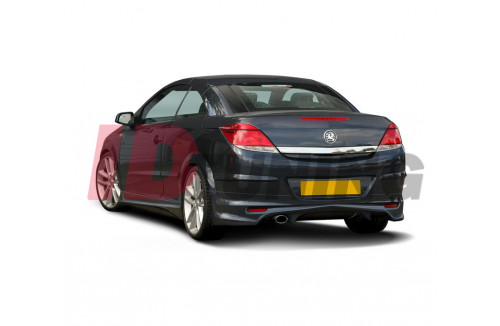 Накладка на бампер задний Opel Astra H (Twin Top) вар.2