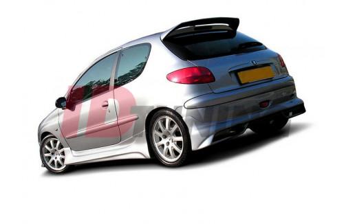 Накладка на бампер задний Peugeot 206 GTI/S16/CC Хэтчбек