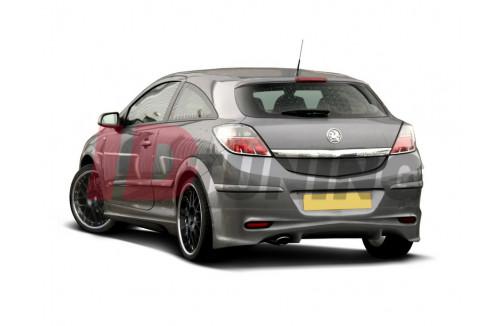 Накладка на бампер задний Opel Astra H Хэтчбек(3дв)