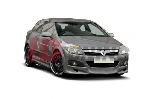 Спойлер на передний бампер Opel Astra H Дорестайл Хэтчбек(3дв) Twin Top