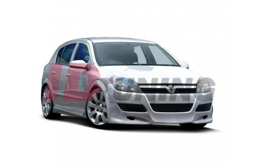 Спойлер на передний бампер Opel Astra H Дорестайл Хэтчбек(5дв)/Седан/Универсал