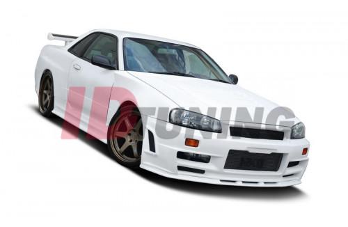 Бампер передний широкий Nissan Skyline R34 GTT Z Type (без диффузоров, на широкие арки и капот GTR)