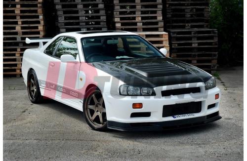 Накладки на пороги GTR LOOK Nissan Skyline R34 GTT