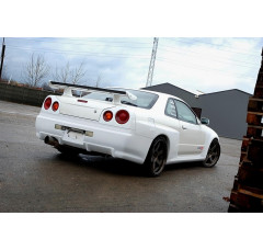 Бампер задний Nissan Skyline R34 GTT (GTR look, на широкие арки 2292)