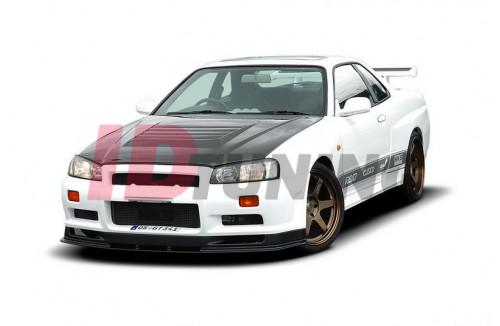 Бампер передний Nissan Skyline R34 GTT (без диффузоров, на широкие арки 2299-1 и капот GTR)