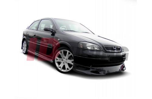 Спойлер на передний бампер Opel Astra G Хэтчбек/Седан\Универсал